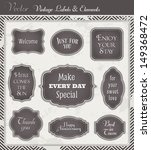 vintage vector set of labels... | Shutterstock .eps vector #149368472