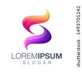 letter s gradient color design  | Shutterstock .eps vector #1493701142