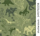 Seamless  Camouflage Dino...