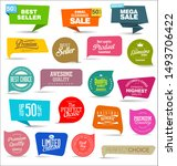sale colorful badges and... | Shutterstock . vector #1493706422