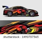 car wrap  decal  vinyl sticker...   Shutterstock .eps vector #1493707565