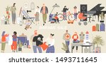 vector illustration of a large... | Shutterstock .eps vector #1493711645