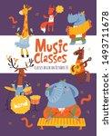 vector music lessons or classes ...   Shutterstock .eps vector #1493711678
