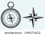 black wind rose and compass...   Shutterstock .eps vector #149371622