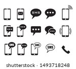 phone icons on white background ... | Shutterstock .eps vector #1493718248