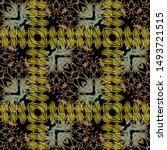 textured zigzag colorful vector ... | Shutterstock .eps vector #1493721515