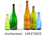 Glass Bottles Of Mixed Colors...