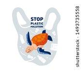 web banner template stop... | Shutterstock .eps vector #1493735558