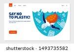 website template no plastic ... | Shutterstock .eps vector #1493735582