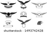 eagles head  wings and... | Shutterstock .eps vector #1493742428
