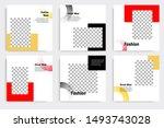 editable modern minimal square... | Shutterstock .eps vector #1493743028
