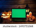 jack o lantern halloween... | Shutterstock . vector #1493751068
