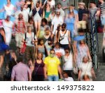 motion blurred pedestrians in... | Shutterstock . vector #149375822