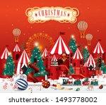 christmas winter wonderland... | Shutterstock .eps vector #1493778002