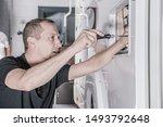 camper van rv refrigerator... | Shutterstock . vector #1493792648