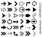 arrows big black set icons.... | Shutterstock .eps vector #1493853122