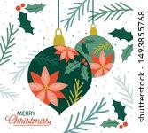 decoration christmas baubles... | Shutterstock .eps vector #1493855768