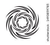 illustration isolated twirling...   Shutterstock .eps vector #1493859785