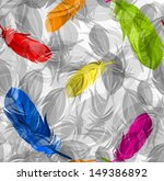 abstract feathers pattern... | Shutterstock .eps vector #149386892