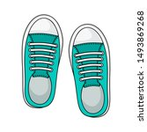 Fashion Sneakers Icon Isolated...