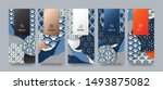 vector set packaging templates... | Shutterstock .eps vector #1493875082