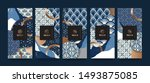 vector set packaging templates... | Shutterstock .eps vector #1493875085