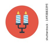 candelabra glyph flat vector... | Shutterstock .eps vector #1493883395