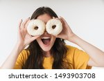 photo of positive happy young...   Shutterstock . vector #1493903708