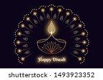happy diwali banner  hindu... | Shutterstock .eps vector #1493923352
