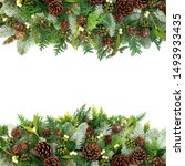 winter and christmas background ... | Shutterstock . vector #1493933435