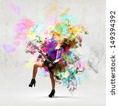 young attractive rock girl... | Shutterstock . vector #149394392