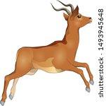 running jumping graceful...   Shutterstock .eps vector #1493945648