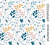 seamless pattern with flowers ... | Shutterstock .eps vector #1493953322