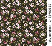 vector seamless pattern. pretty ... | Shutterstock .eps vector #1493980892