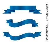 blue ribbons set.vector ribbon... | Shutterstock .eps vector #1493998595