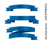 blue ribbons set.vector ribbon... | Shutterstock .eps vector #1493998652