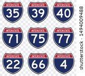 usa road traffic transportation ... | Shutterstock .eps vector #1494009488