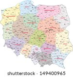 administrative map of poland | Shutterstock .eps vector #149400965