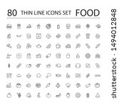 food line icons set collection. ... | Shutterstock .eps vector #1494012848