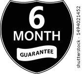 black 6 months warranty shield... | Shutterstock .eps vector #1494021452