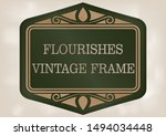 decorative frame with beautiful ... | Shutterstock .eps vector #1494034448