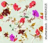 vintage seamless background...   Shutterstock .eps vector #1494054215