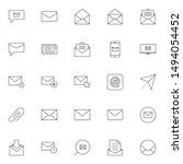 simple business email icons set....