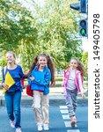 basic school students crossing...   Shutterstock . vector #149405798