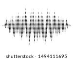 halftone sound wave pattern... | Shutterstock .eps vector #1494111695