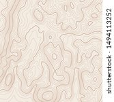 map background with topographic ... | Shutterstock .eps vector #1494113252