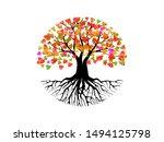 Abstract Vibrant Tree Logo...