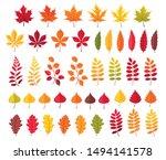 autumn leaves vector...   Shutterstock .eps vector #1494141578