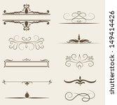 vector set  calligraphic design ...   Shutterstock .eps vector #149414426