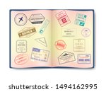 Stamp In Passport For Travelin...